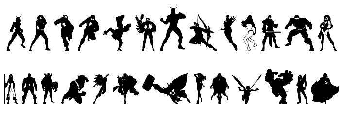Heroes Assemble Dingbats Regular Font LOWERCASE