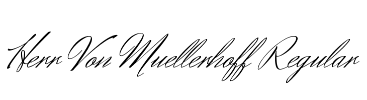 Herr Von Muellerhoff Regular  Скачать бесплатные шрифты