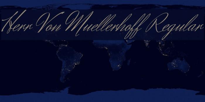 Herr Von Muellerhoff Regular フォント examples