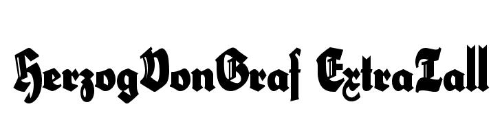 HerzogVonGraf ExtraTall  Скачать бесплатные шрифты