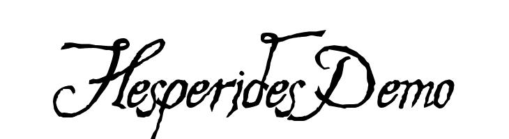 Hesperides Demo  नि: शुल्क फ़ॉन्ट्स डाउनलोड