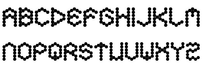 Hexa Font UPPERCASE