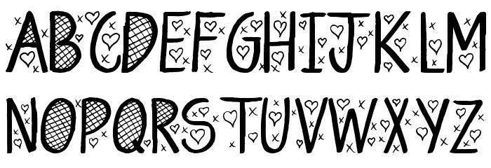 Hey Cutie Font UPPERCASE
