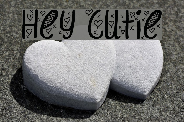Hey Cutie Font examples
