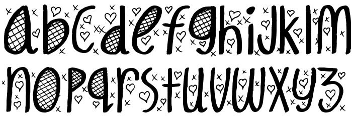 Hey Cutie Font LOWERCASE