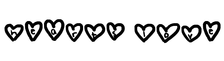 hearts love  Free Fonts Download