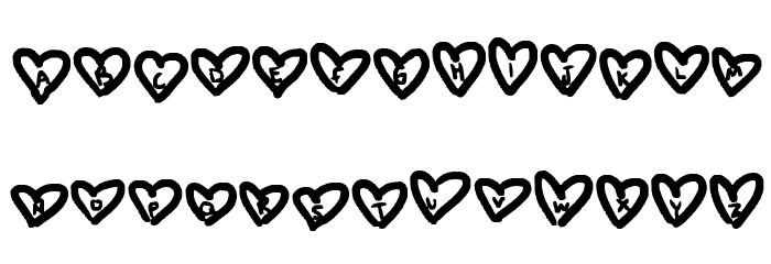 hearts love Font UPPERCASE