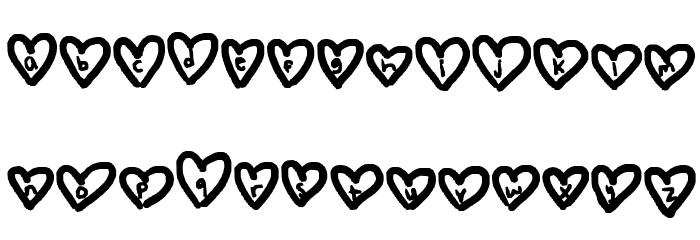 hearts love Font LOWERCASE