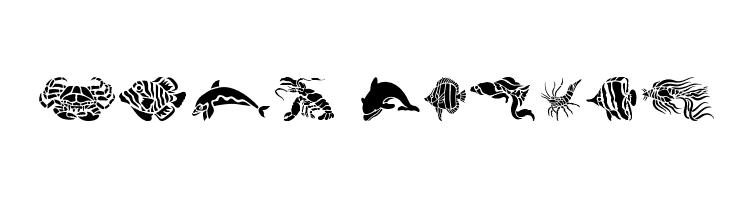 HFF Aqua Stencil  Free Fonts Download