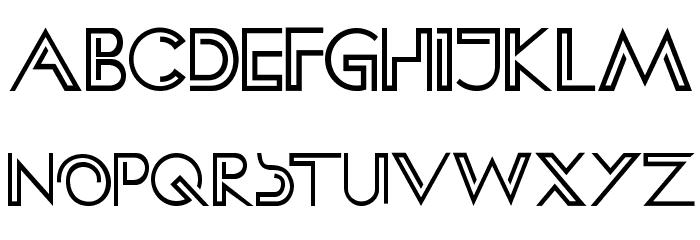 HFF Clip Hanger Font UPPERCASE