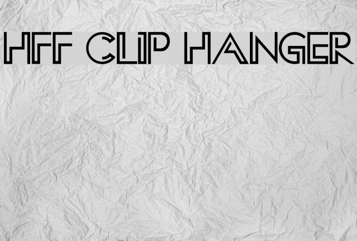 HFF Clip Hanger Fonte examples
