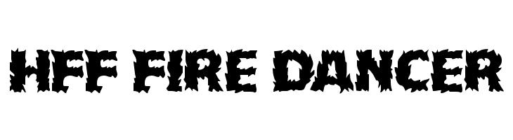 HFF Fire Dancer  Free Fonts Download