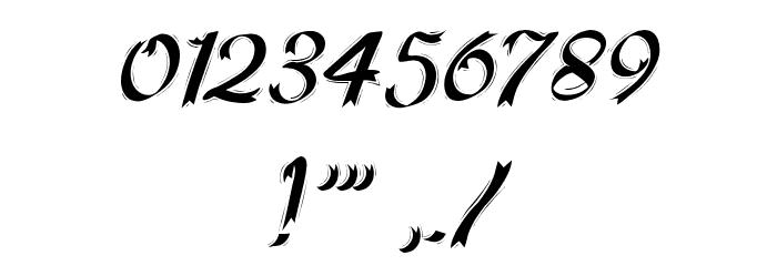 HFF Ribbon Font OTHER CHARS