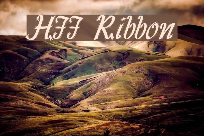 HFF Ribbon Font examples