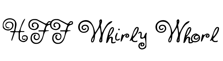 HFF Whirly Whorl  Free Fonts Download
