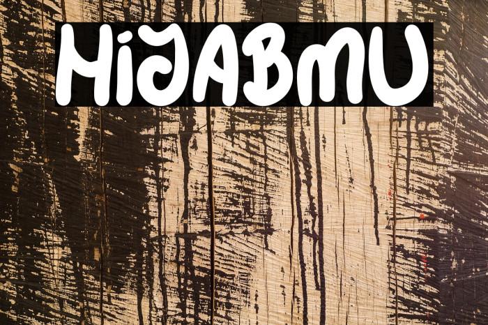 HIJABMU फ़ॉन्ट examples