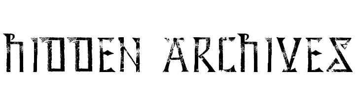 Hidden Archives  Скачать бесплатные шрифты