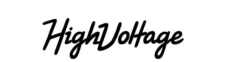 High Voltage Font - free fonts download