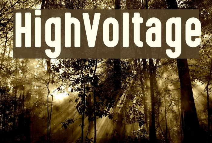 HighVoltage फ़ॉन्ट examples