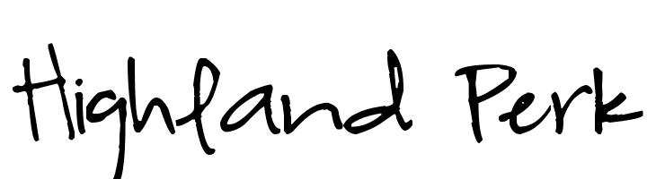 Highland Perk Font