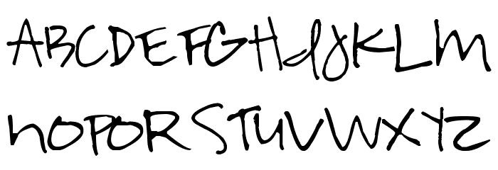 Highland Perk Font UPPERCASE