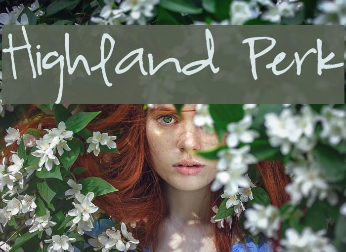 Highland Perk Font examples