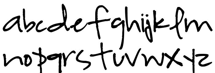Highland Perk Font LOWERCASE