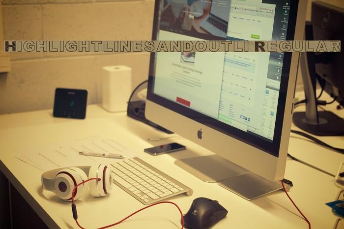 Highlight_linesandoutli Regular Font examples
