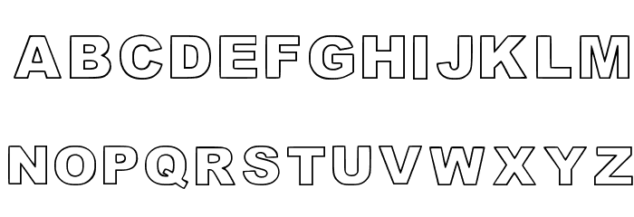 Highlight_linesandoutli Regular Font LOWERCASE