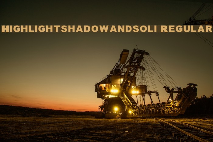 Highlight_shadowandsoli Regular फ़ॉन्ट examples
