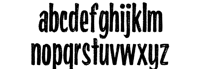 Highlights Condensed Font LOWERCASE