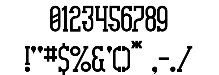 Highnoon Saloon Font OTHER CHARS