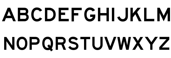 Highway Gothic Wide Font Litere mari