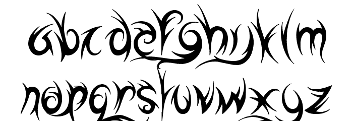 Highway to Hell Font LOWERCASE