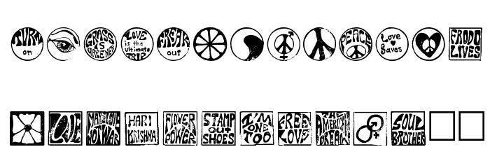 Hippy Stamp Шрифта строчной