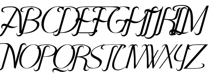 Hitalica Font UPPERCASE