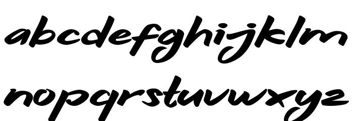 Hitam Schriftart Kleinbuchstaben