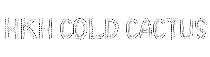 HKH Cold Cactus  フリーフォントのダウンロード