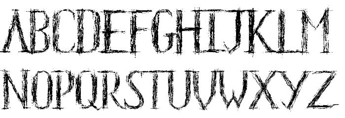 HKH Old Glyphs Demo Font LOWERCASE