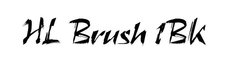 HL Brush 1BK  لخطوط تنزيل
