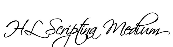 HL Scriptina Medium  Free Fonts Download