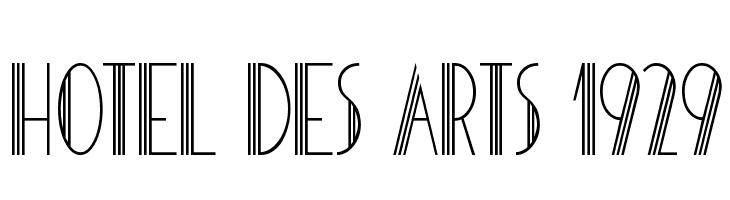 HOTEL DES ARTS 1929 Schriftart