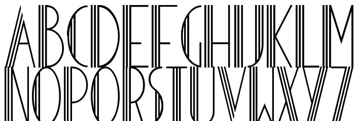 HOTEL DES ARTS 1929 Schriftart Kleinbuchstaben