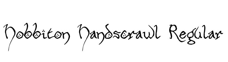 Hobbiton Handscrawl Regular  Free Fonts Download