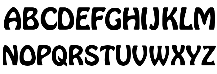 Hobo Font UPPERCASE