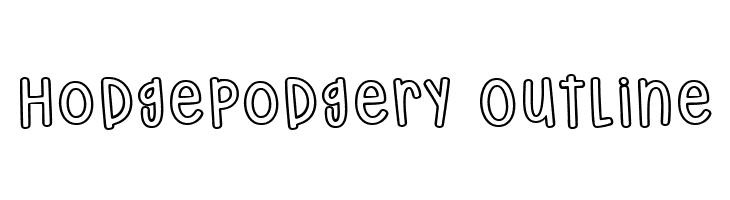 Hodgepodgery Outline  フリーフォントのダウンロード
