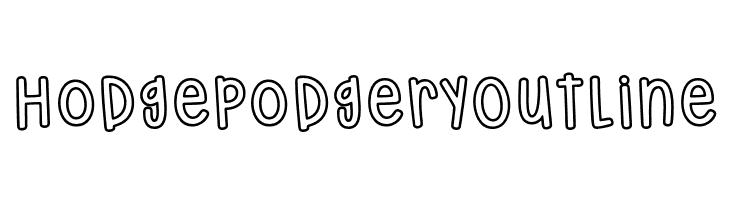 HodgepodgeryOutline  لخطوط تنزيل