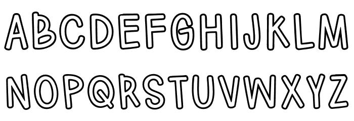 HodgepodgeryOutline لخطوط تنزيل الأحرف الكبيرة