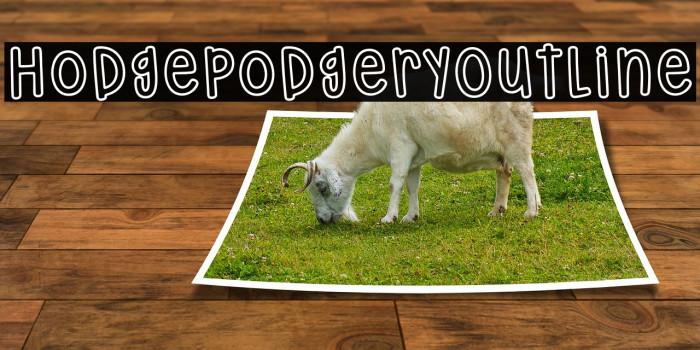 HodgepodgeryOutline لخطوط تنزيل examples