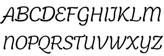 Holden Trial Light Italic Schriftart Groß
